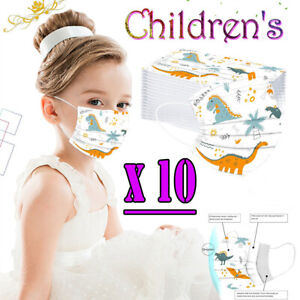 10X Kids Face Mask Anti Bacterial Children Mouth Face Mask With Filter Cartoon