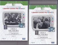 2 Dvd Sceneggiati Rai L'ISOLA DEL TESORO con A. Piccardi A. Foà completa 1959
