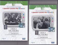 2 Dvd Serie DEL drama Rai L'ISOLA DE TESORO con a. Piccardi A.Foà completa 1959