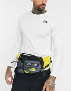 The North Face Steep Tech Fanny Pack Sling Bag Gray Yellow