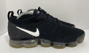 Nike Air Vapormax Flyknit 2 Black White Swoosh 942842-001 Men's Size 9.5