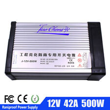 Rainproof Power DC12V 42A 500W Outdoor Switching power supply for LED Strip