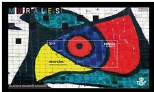 Spain 2015 Joan Miro's Murals Art Unique Unusual Textured Miniature sheet