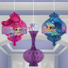 Shimmer and Shine Honeycomb Hanging Decorations | Girls Birthday Party Supplies