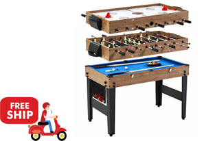 """48"""" 3 In 1 Combo Game Table, Pool, Hockey, Foosball, Accessories Included"""