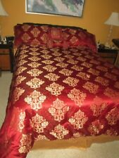 New ListingWaterford king reversible comforter Red with 2 Shams 2 accent pillows