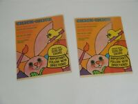 Vintage 2 Fleck's Chick-Chick Easter Colors Foldout