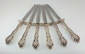 Towle Fontana Individual Steak Knife Set of 6, Sterling Silver Handle