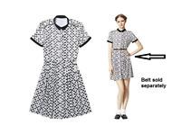 NEW NWT Jason Wu Target Collared Bicycle Wheel Print Pleated Waitress Dress M