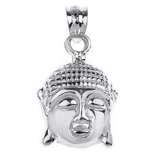 Sterling Silver Buddha Head Charm Pendant
