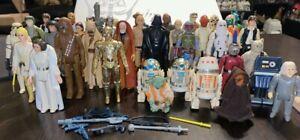 Vintage Star Wars (1977) First 21 Original SW Figures! 37 Figures Total & More!