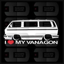 I Heart My Vanagon Sticker T3 Germany Love VW Volkswagen Slammed Euro Van Type 2