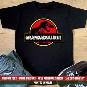 Grandadsaurus T Shirt Funny Grandad Jurassic Park Birthday Christmas Gift Top