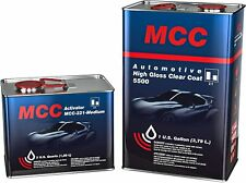 MCC Automotive High Gloss Clear Coat Urethane 2K 2:1 Gallon Clearcoat Medium Kit
