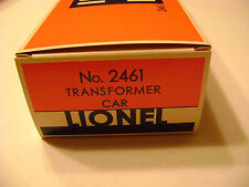 Lionel 2461 Licensed Transformer Car Box- Reproduction