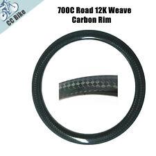 700C 50mm Clincher Carbon Rim 12K Rim for Road Bike with Basalt Brake Surface