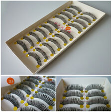 10 Pairs Fake Eye Handmade Long Thick Lashes Natural False Eyelashes Make up Set