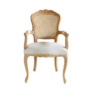 Lacey Provincial Armchair with Rattan Back