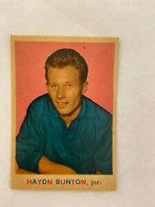 1963 Scanlens Card (7) Haydn Button Jnr. Great Condition