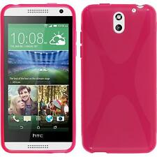 Silicone Case HTC Desire 610 X-Style hot pink + protective foils