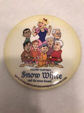 RARE Hillary Clinton 2008 Campaign Pin Snow White Seven Dwarves Barack Obama