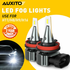 AUXITO CANBUS LED Fog Driving Light H11 H16 H8 6000K Super Bright Free Return I9