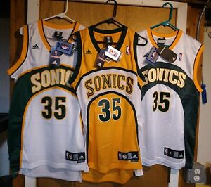 100% Authentic 3 Kevin Durant Adidas Seattle Sonics Jerseys Size Mens small