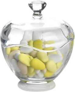 Glass Wedding Candy Serving Canisters Food Storage Jar Box Bowl with Lid
