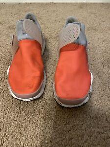 Nike Huarache Orange Grey Size 9 Great Shoes