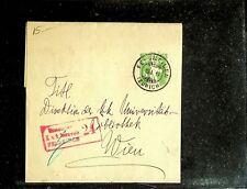 SWITZERLAND 1917 5c POSTAL STATIONERY FROM ZURICH TO VIENNA IN AUSTRIA