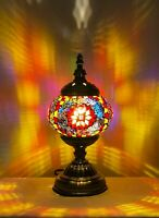 Handmade Turkish Moroccan Stained Glass Mosaic Table Lamp For Home Decor SN6