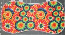 New Flannel Burp Cloths Large Soft 2 Layer Handmade Tie-Dye