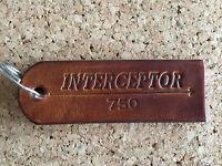 Handmade Custom Leather Key Ring - Royal Enfield Interceptor 750 Classic