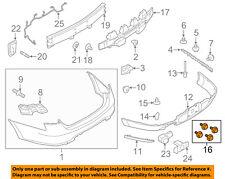 FORD OEM 13-17 Taurus Front Bumper-License Bracket Hardware Kit DG1Z17A386A
