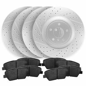 For 2014-2017 Mazda 3 Sport Front+Rear Drill Slot Brake Rotors + Ceramic Pads