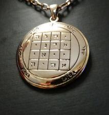 El 1st Pentacle de Saturno los sellos Mágico De Salomón en bronce por Peter Stone
