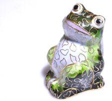 "Vintage Chinese Cloisonne Frog 2.5"""