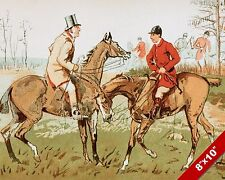 HOW DARE YOU SPEAK TO ME FOX HUNT SNOB HORSE HUNTING ART PAINTING CANVAS PRINT