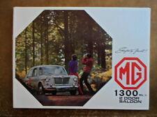 Mg 1300 MK II Sedán Orig 1970 Reino Unido Mkt folleto de ventas-Mark 2 ref 2747