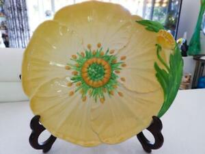 Carlton Ware England - LARGE Buttercup Flower Serving / Cake Plate C1926