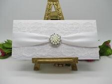 WEDDING MONEY GIFT VOUCHER POUCH - LUXURY WHITE HANDMADE LACE GIFT VOUCHER