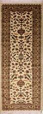 Rugstc 2.5x8 Pak Persian Ivory Runner Rug, Hand-Knotted,Floral with Silk/Wool
