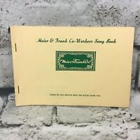 Meier & Frank Co-Workers Song Book Paperback Staple Bound Vintage