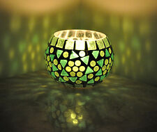 Mosaic Glass Candle Holders Tea Light Cup Votive Holder Lamp Wedding Exclusive