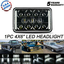 "4x6"" 60W LED Sealed Beam Headlight Black DRL H4651 H4652 H4656 H4666 H6545"