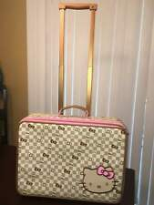 Sanrio Hello Kitty Checkered Travel Collection 2012 Rolling Suitcase Luggage