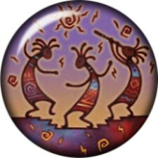 Snap button Kokopelli represents the spirit of music 18mm Cabochon chunk charm