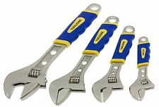 4pc Adjustable Spanner / Monkey Pipe Wrench Set Covers Range 0-36mm NEW