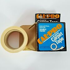 """New listing Vtg Cal-Pro 2""""x75' Plastic Double Sided Carpet Tape Industrial Grade 25 Yards"""