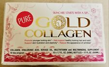 NEW Minerva Pure Gold Collagen Multivitamin 10 x 1.7 oz Bottles - Free Shipping